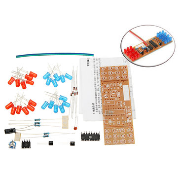 DIY Double Color Flashing Lights Kit Electronic Production NE555+CD4017 Practice Learning Kit