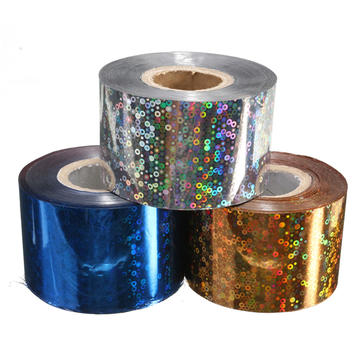 1 Roll 4CM X 110M Starry Starry Shiny Halo Nail Transfer Foil Sticker Manicure Decoration Paper