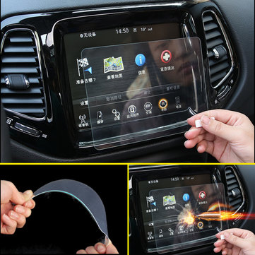 16.5X12.3cm Car Display Tempered Glass Screen Protector Kit for Jeep Compass 2018 2017