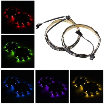 2PCS 50CM SMD5050 Waterproof RGB LED Strip Light for