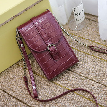 Women Crocodile Pattern Retro Crossbody Bags