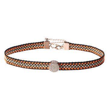 JASSY® 18K Gold Plated Micro Inlays Rhinestone Choker Bohemian Exquisite Necklace for Women