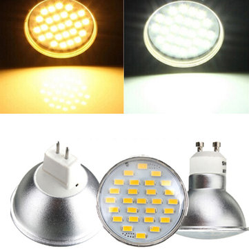 GU10/MR16 4W LED Spotlight 27 5730SMD 220V Warm/White Bulb Lamp