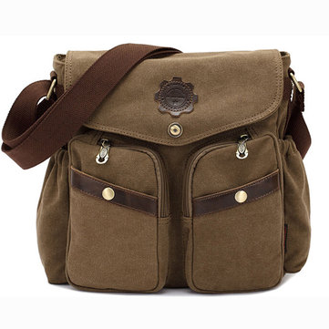 KAUKKO Canvas Bag Men Women Casual Crossbody Shoulder Bag Men Messenger Bags