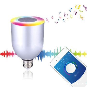 ARILUX® E27/ E26 10W RGBW Dimmable Bluetooth APP Controlled Speaker LED Smart Light Bulb AC100-240V