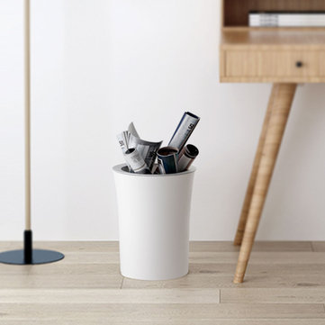 Xiaomi White Simple Original Tooth Structure Storage Trash Can Wastebasket For Bathroom Living Room