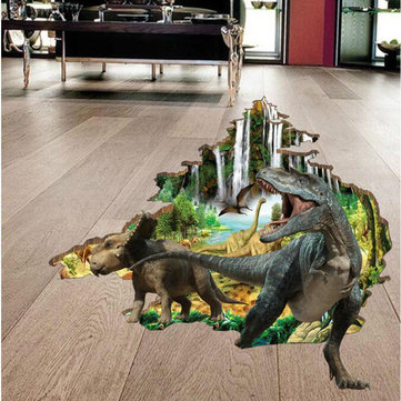 Miico 3D Creative PVC Wall Stickers Home Decor Mural Art Removable Dinosaur Wall Decals