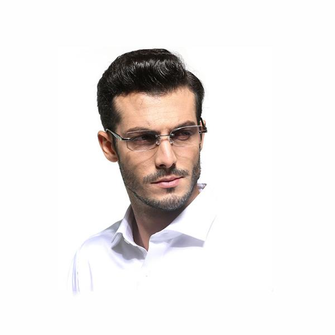 Men Antifatigue Rimless Lightweight Readers Reading Glasses