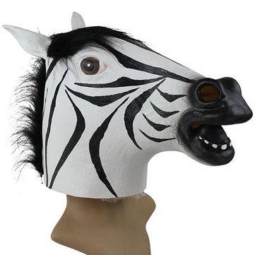 Мото маска для Funny Zebra Latex
