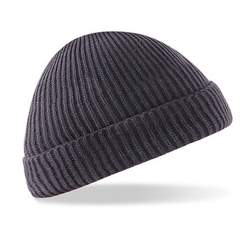 Men Women Solid Knitted Warm Beanies Caps