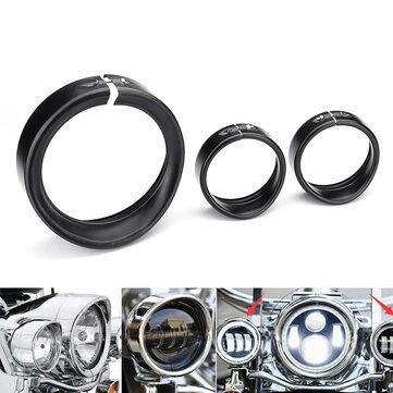 7inch Headlamp Trim Ring 4.5inch Passing Lamp Trim Ring For Harley Street Glide