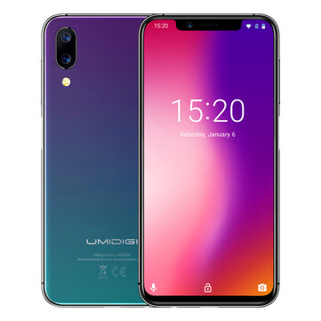 UMIDIGI One 5.9 Inch FullSurface Global LTE Band 4GB RAM 32GB ROM Helio P23 Octa-core 4G Smartphone