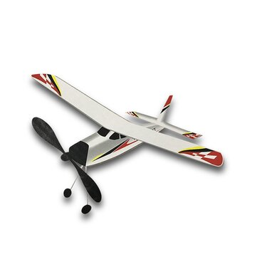 Lighting Flighter 400mm Wingspan 3D Cabin Rubber Power Launch Glider DIY RC Airplane