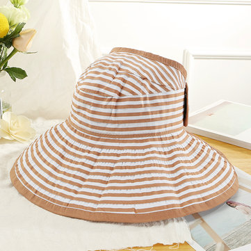 Women Summer Sun Protection Wide Brimmed Hat Visor