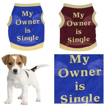 Dog Cat Vest Puppy T-Shirt Coat Pet Clothes Summer Apparel Costumes Hot New Spring Summer Clothing