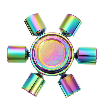 Colorful Pistons Six-Spinner Fidget Hand Spinner ADHD Autism Reduce Stress Focus Attention Toys