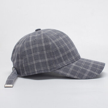 Canvas Plaid Sun Peaked Cap Outdoor Sport Trucker Cap