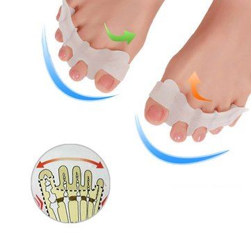 2Pcs Silicone Toe Gel Correction Relief Pain Toe Separator Finger Feet Care