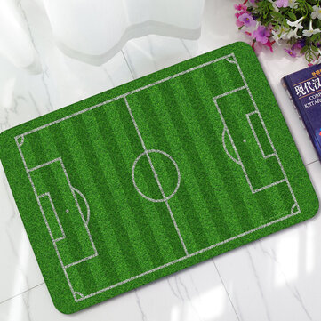 KCASA KC-M3 40x60cm Creative Entrance Door Mats 3D Trap Printed & Football Field Non-slip Carpet