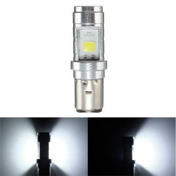 BA20D 6000K 10W LED 1000LM COB Headlight Bulb For Motor Bike Scooter