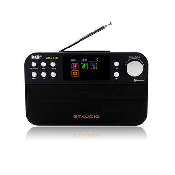 GTAudio DR-103B 2.4 Inch TFT Color Display Bluetooth 4.0 DAB Portable Digital DAB FM Stereo Radio Receiver Alarm Clock