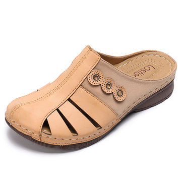 LOSTISY Lightweight Hollow Breathable Soft Casual Sandals