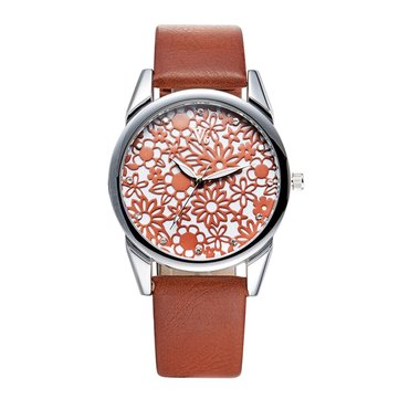 V6 B008 Fashion Ladies Wrist Watch Casual Women Leather Quartz Watch