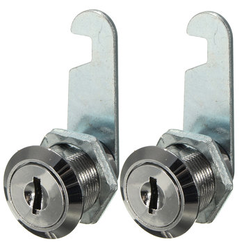 Zinc Alloy Cam Lock Filing Cabinet Mail Box Drawer Cupboard Locker with Two Keys 16mm/ 20mm
