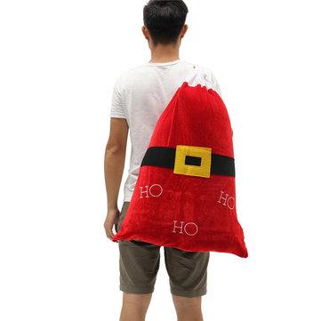 Decorazione domestica del partito di Natale Giocattoli dello zaino del Babbo Natale per i regali di ornamento dei bambini