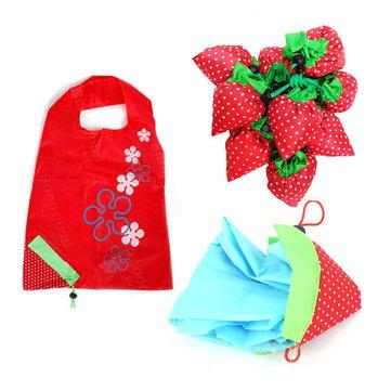 접이식 쇼핑 가방 크리 에이 티브 대형 딸기 에코 스토리지 핸드백