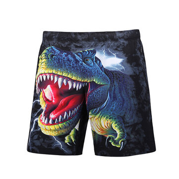 S5251 Beach Shorts Board Shorts 3D Funny Dinosaur Printing Fast Drying Waterproof