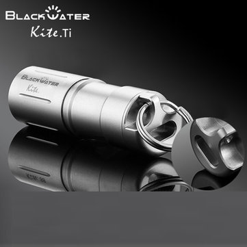 Black Water Kite.Ti Titanium XP-G2 USB Recharger Mini LED Flashlight
