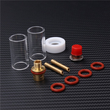 11pcs TIG Welding Torch Accessories Stubby Gas Lens Glass Nozzle Cup Kit For WP-9/20/25