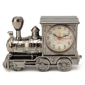 Vintage Fashion Train Shape Alarm Clock Decoration Quartz Movement