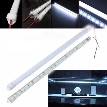 50CM 8520 SMD Cool White LED Rigid Strip Aluminum Milk/Clear Case Tube Light Lamp DC12V