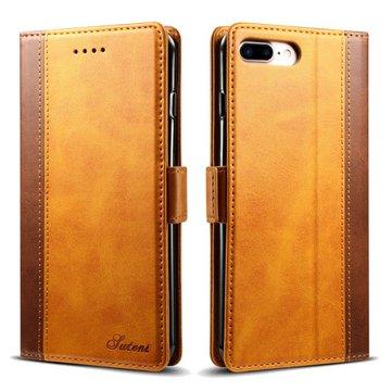 BakeeyHibritRenkliCüzdanKartıÇöp Kicksstand Kılıf için iPhone 7 Plus/8 Plus 5.5