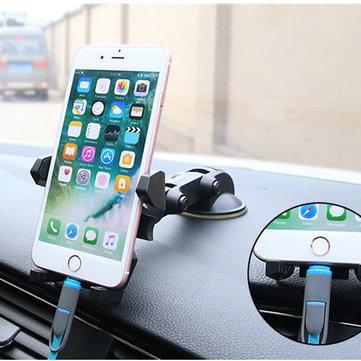 Bakeey ™ Universale 360 gradi di rotazione supporto per telefono cellulare dell'automobile della tazza di aspirazione per il telefono sotto i 6 pollici