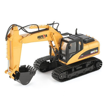 HuiNa Toys 1350 15Channel 2.4G 1/14 Rc Metal Excavator Truck Construction Engineering Vehicle