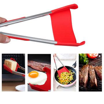 Honana BBQ 2에서 1 접을 수있는 부엌 주걱과 BBQ 통 non-Stick 스테인리스 구조