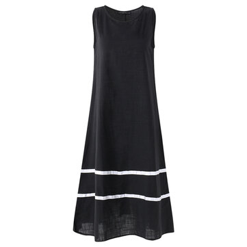 S-5XL Striped Tank Dress