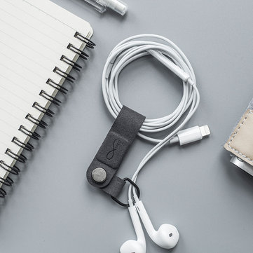 Bcase MEC Magnetic Earphone Clip Leather Buckle Portable Cable Earphone Wire Organizer Holder