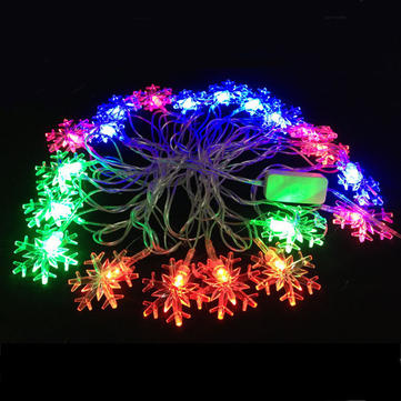 4M Little Snowflake RGB LED String Light For Decoration Festival Holiday Party 110V-220V