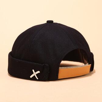 Men's Landlord Hat Summer Street Trends Melon Cap Vintage Innocent Metal Standard Sailor Brimless Hats