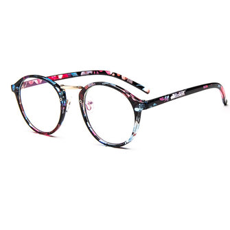 Women Mens Clear Lens Glasses Vintage Round Frame Matal Retro Plain Glasses