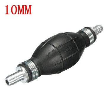 10mm Geri Dönüşsüz Valfli Yakıt One Yol Pompa Evrensel El Primer Ampul Kauçuk