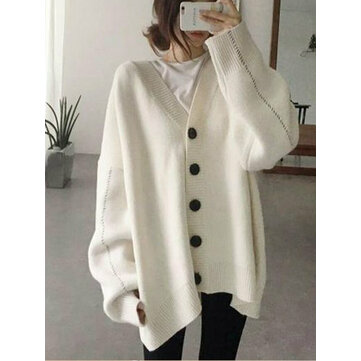 Casual Women Loose Batwing Sleeve Sweater Cardigans