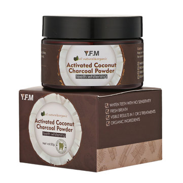 Natural Activated Coconut Charcoal Whitening Powder Teeth