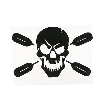 Skull with Oars Paddle Vinyl Decal Sticker Kayak Fishing Car Truck Canoe
