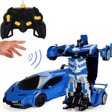 Wei Yu Toys 1/14 2.4G Gesture Induction Radio Control Rc Car One-Key Deformation Lighting Robot