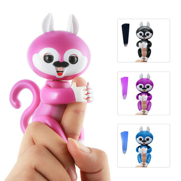 Lovely Interactive Finger Baby Squirrel Smart Colorful Pet Induction Toys For Kids Christmas Gift